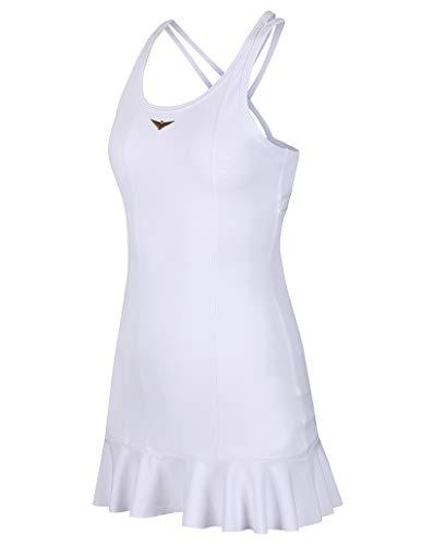 Bace Girls White Tennis Dress, Girl Golf Dress, Junior Tennis Dress, Golf Dress, Kids Golf Clothing, Girls Sportswear, Designer Tennis Dress (White, 10-11 Years)