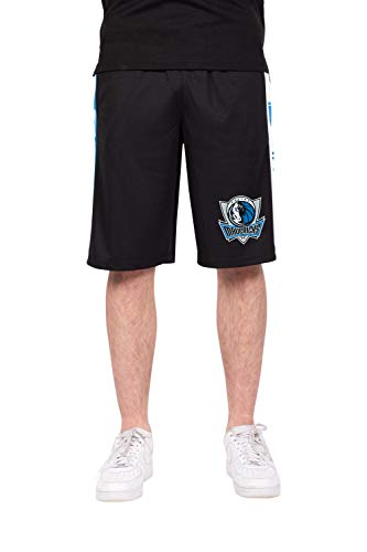 Ultra Game NBA Herren Active Soft Workout Basketball Training Shorts, Herren, Mesh Athletic Active Basketball Shorts, schwarz, Medium