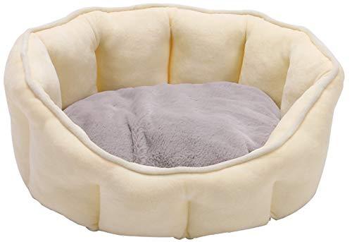 Perro Gato Calmante Cama Sofá Felpa Acogedor Perro Gato Cojín Mullido Nido Portátil para Dormir Perro Interior (Color : Yellow)