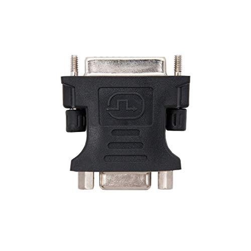 NANOCABLE 10.15.0704 - Adaptador DVI a SVGA, Macho-Hembra, 24+5 M-HDB15 H, Negro