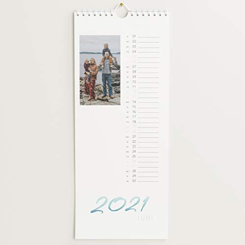 sendmoments Fotokalender 2021 mit Relieflack, Jahresplaner, Wandkalender mit persönlichen Bildern, Kalender für Digitale Fotos, Spiralbindung, Hochformat 148x360