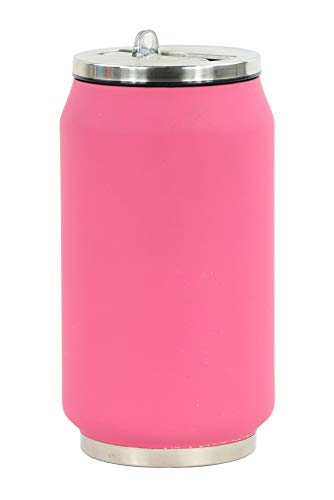 Yoko Design 1292 Canette Isotherme Inox Rose Rubber Soft 13 cm