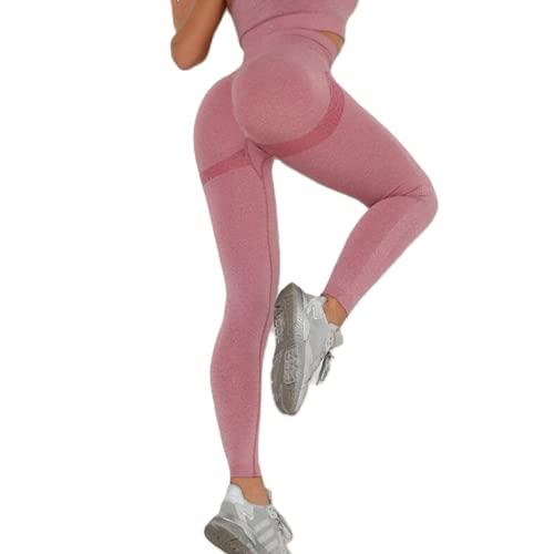 Leggings sin Costuras de Cintura Alta Push up Sexy Deportes Fitness Correr Pantalones de Yoga Pantalones elásticos de energía Leggings de Gimnasio H M