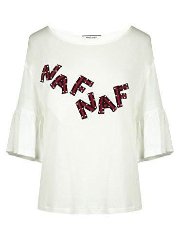Camiseta Letras con Perlas L Blanco