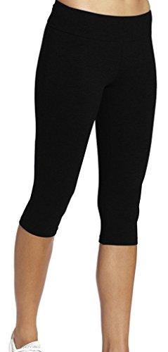 iloveSIA Leggings mädchen Schwarz Joggings Hose Legging Damen Tights Capri Yoga Gym,XL