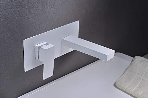 Grifo lavabo pared empotrado Imex Suiza Blanco GLE020-BL