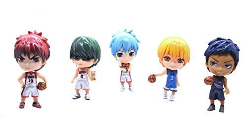 5 figuras de baloncesto Kuroko.