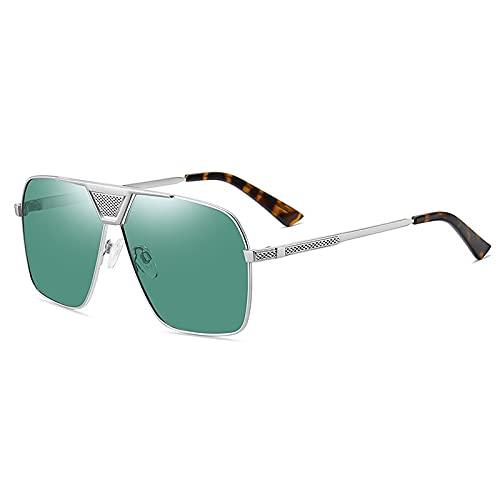 AMFG Occhiali da sole polarizzati Moda in metallo Occhiali da sole da uomo Big Frame Driver Guida di guida Goggles (Color : C)