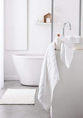 Today serviettes de Toilette, Coton, Blanc, 90x50 cm