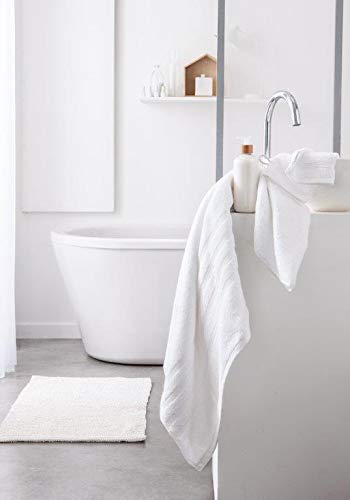 Today serviettes de Toilette, Coton, Blanc, 90x50 cm