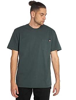 Dickie s Men s Short Sleeve Heavyweight Crew Neck Pocket T-Shirt Hunter Green X-Large