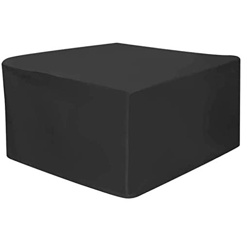MEEYI Garden Furniture Cover 200x200x85cm, Square Waterproof Windproof Anti-UV Rattan Furniture Cover, for Cube Set, Patio, Outdoor Furniture Protector. - Black