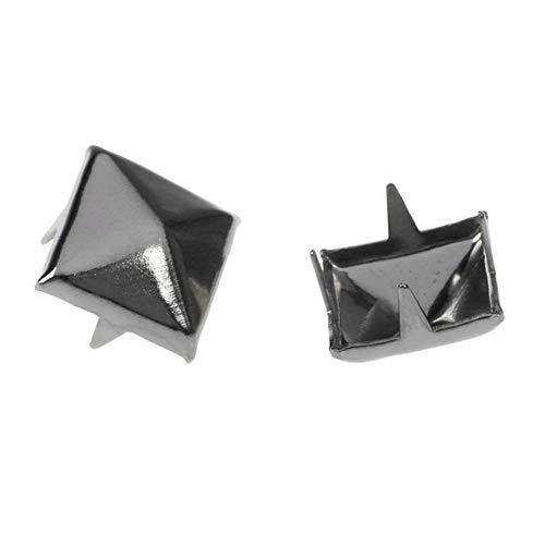 50 tachuelas cuadradas con punta de clavo, ideales para manualidades, níquel negro