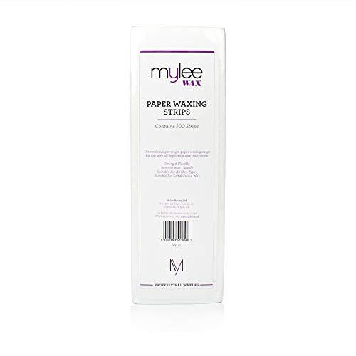 Strisce di cera di carta professionale Mylee (confezione da 100) - Ottimo rapporto qualità-prezzo, resistente e leggero, qualità da salone, per la depilazione a casa o in salone