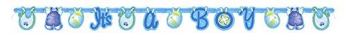 """Partido Ênico 5 ft Tendedero Baby Shower""""Es un muchacho"""" Carta Banner (azul)"""