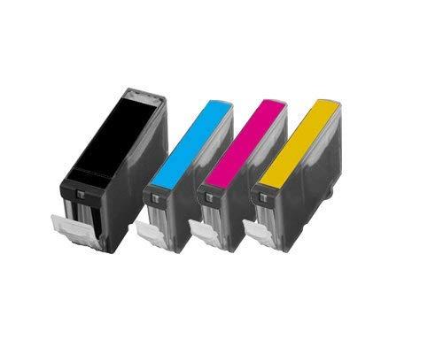 Reinigungspatronen Set kompatibel für Canon PIXMA IP3000, schwarz Cyan Magenta Yellow