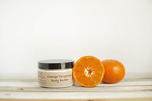 Orange Tangerine Body Butter - All Natural Handmade - Deep Moisturizer - BU Company - 8 oz