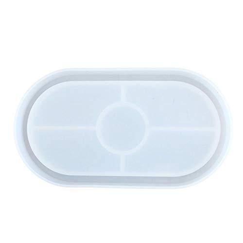 Bandeja de silicona con forma de resina epoxi, molde de resina, forma de hoja, forma de cornamenta irregular, elíptica redonda, para joyero, DIY que