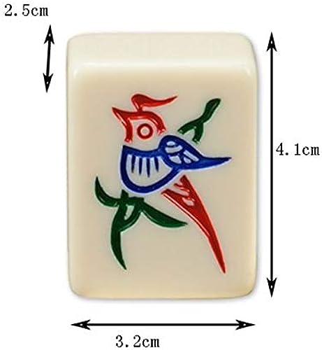 HU Hochwertiges Melaminharz Mahjong Home Travel Tragbare Pferdemarke Personalisierte Geschenk Unterhaltungsspielzeug 3,2 × 2,5 × 4,1 cm (Farbe   Blau)