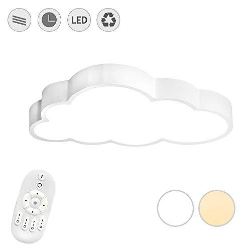 Aufun 48W LED Wolken Deckenlampe - Ultra-dünne 5cm Kreative Deckenleuchte für Schlafzimmer Büro Kinderzimmer, Dimmbar