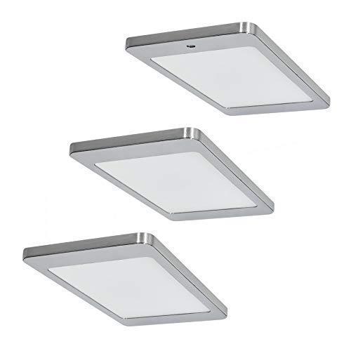 LED Küchen Unterbauleuchte Kyra 3 x 4,8 W warmweiss Edelstahl Optik Flächen-LED *571659