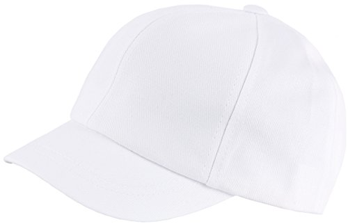 RaOn B409 Empty Plain Ball Cap Cute Short Bill Design Cotton Baseball Hat Truckers (White)