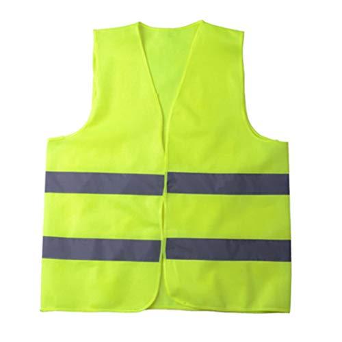 Caliente unisex chaleco reflectante de alta visibilidad Ropa de Trabajo Día Noche Ejecución de ciclo de visualización verde amarillo de seguridad de construcción del chaleco