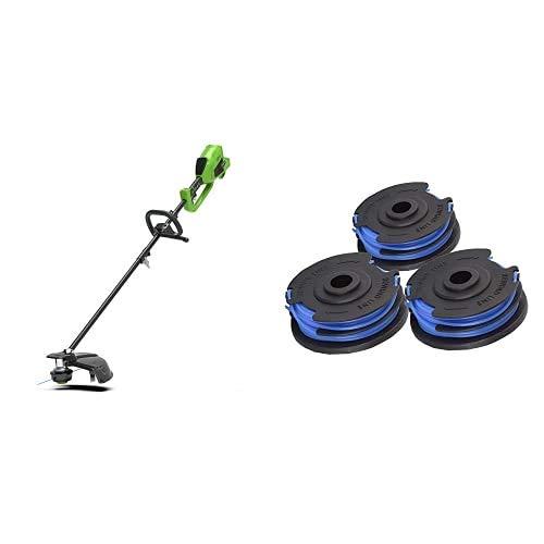 Greenworks Recortador Césped con Batería y Sense 2in1 + Bobina para bordeadora de alambre + Batería Li-Ion 40V + Cargador Universal
