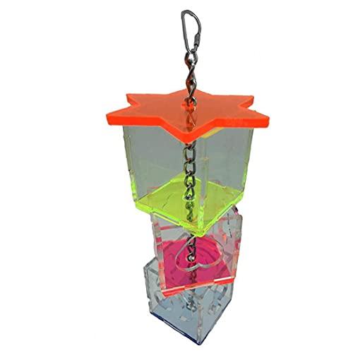 Bird Feeding Toy Haning Fågelmat Dispenser Multi-layer Parrot Foder Box Acrylic Fågelmat Hållare För Small Medium Bird
