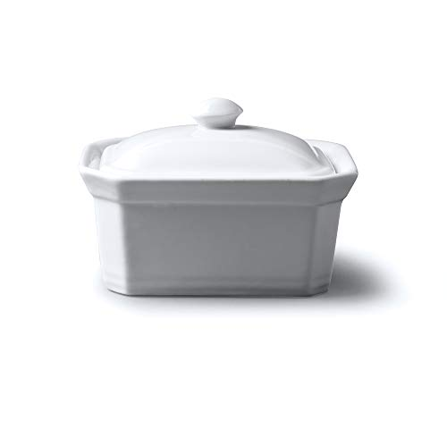 WM Bartleet & Sons 1750 T294 Butter/Terrine Dish with Lid, White