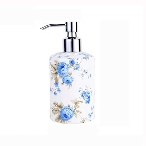 Dispensador de líquido Botella de cerámica desinfectante de la mano creativa del hueso porcelana lleno Sub-Gel de ducha Botella Hotel Beauty Salon Sub-Botella Dispensador de jabón líquido para manos r