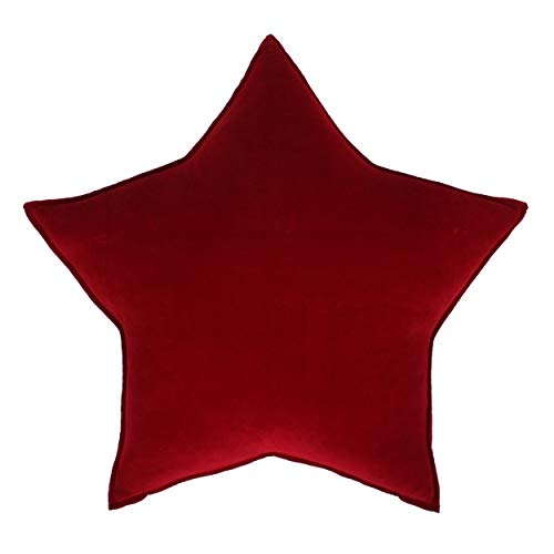Farbenfreunde Kissen Stern komplett, Dekokissen, Schlafkissen, gefüllt, Baumwolle, Polyester, rubin, 50cm, 1009k076