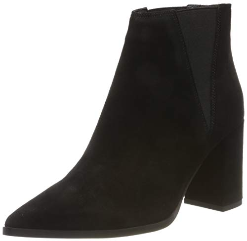 Bianco Damen Dress Suede Chelsea Boots, Schwarz (Black 101), 38 EU