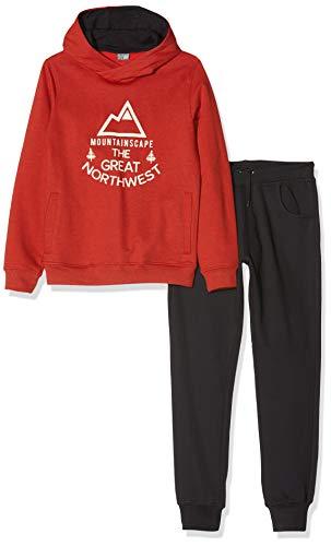 Losan Jungen 923-8655aa Sportbekleidung Set, Rot (Caldero Muestra 758), Jahre (Herstellergröße: 10)