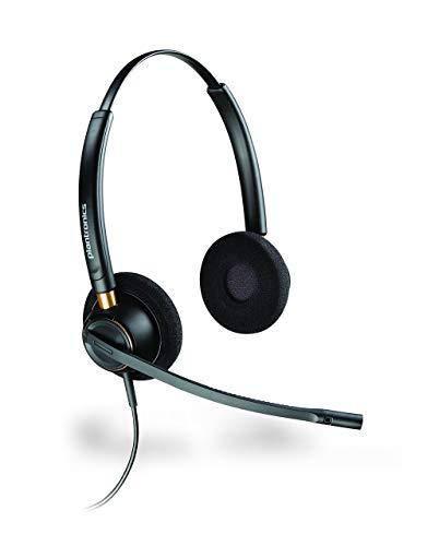 Plantronics HW520 Encorepro Headset mit Geräuschunterdrückung, für den Kopf, für den Kopfhöreranschluss P/N 89434-02 (zertifiziert generalüberholt)