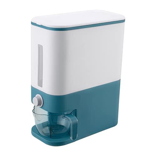 Automatischer Müsli-Spender aus Kunststoff, Aufbewahrungsbox, Messbecher, Küche, Lebensmittelbehälter, Reisbehälter, Organizer, Getreide-Aufbewahrungsdosen (01)