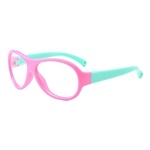 Juleya Juleya Kinder Gläser Rahmen - TR - Kinder Brillen Clear Lens Retro Reading Eyewear für Mädchen Jungen - 180710ETYJJ10