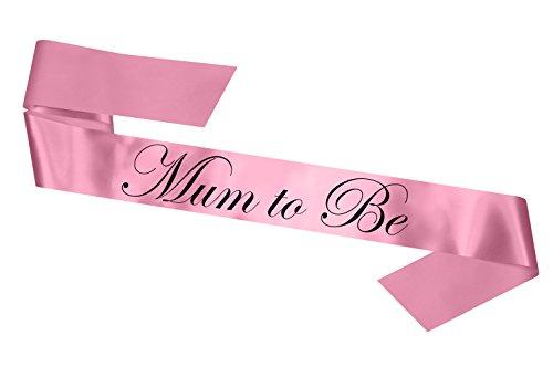 Baby Pink Satin Baby Shower Mum To Be Sash