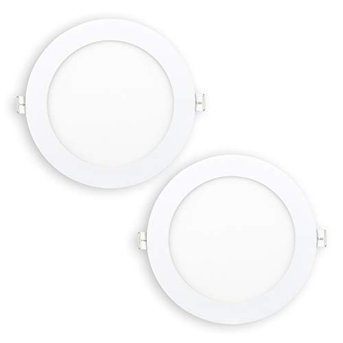 POPP- (Pack x 2 ) downlight led Placa LED redondo 12W.neutro (4000K, 12W) chip OSRAM.[Clase de eficiencia energética A+]