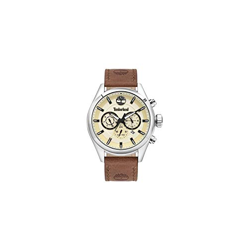 TIMBERLAND Reloj Ashmont 46MM Beige DIAL Brown Leather ST - TBL.16062JYS-14