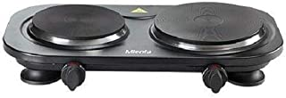 Mienta HP41225A Duetto Hot Plate, 2 Burners, 2500 Watt - Black