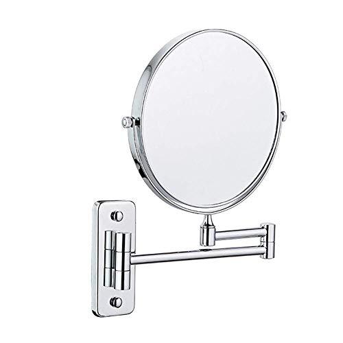 HGXC Espejo montado en la Pared, Aumento de Espejo de Maquillaje cosmético de Afeitado de baño Plegable Extensible para baño