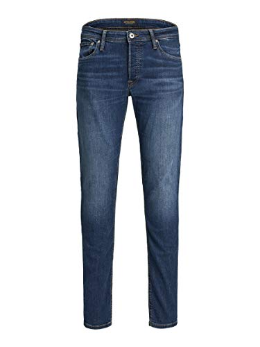 JACK & JONES Herren Glenn Original Slim Jeans, Blau (Blue Denim), 30 EU