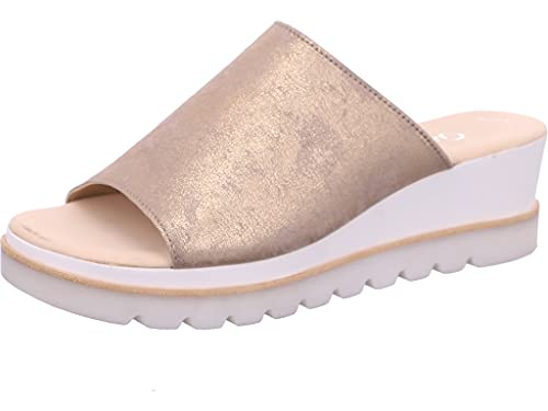 Gabor Damen Sandalen, Frauen Pantoletten,Best Fitting,Sommerschuhe,sommerclogs,Lady,Ladies,Women\'s,Schlupfschuhe,Slipper,Mules,Muschel,38 EU / 5 UK