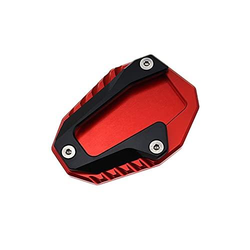 ZHUSHANG SHUANGX Ajuste de la Placa de pie de la extensión del Soporte del Lado del Lado de la Motocicleta para Ducati Monster 696 795 797 821 (Color : Red)