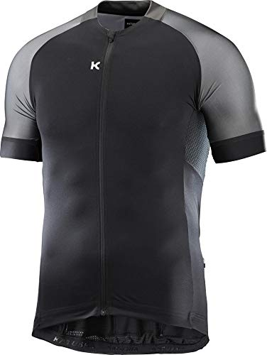 KATUSHA ICON Jersey Kurzarmtrikot Herren Rennrad Kurzarm Trikot SS Shirt (L, Black Grey)