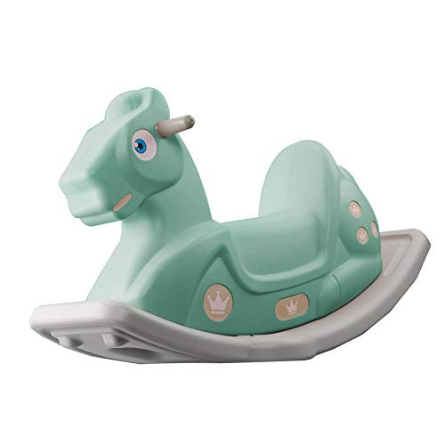 New YUMEIGE Rocking Ride-Ons Kids Ride-On Toys/Horse,PE Material、 Rocking Horse ,Indoor and Outdoor Swing Toys, Exercise Balance、Infant Rocking Horse,Gifts for Children Aged 1-6 (Color : Green)
