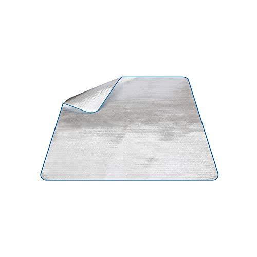 Beito 1PC Aluminium Foil Isomatte 200 * 200cm wasserdichte Picknick-Matte Folie Schaumstoffpolster Doppelseitige Folie Schlafenauflage