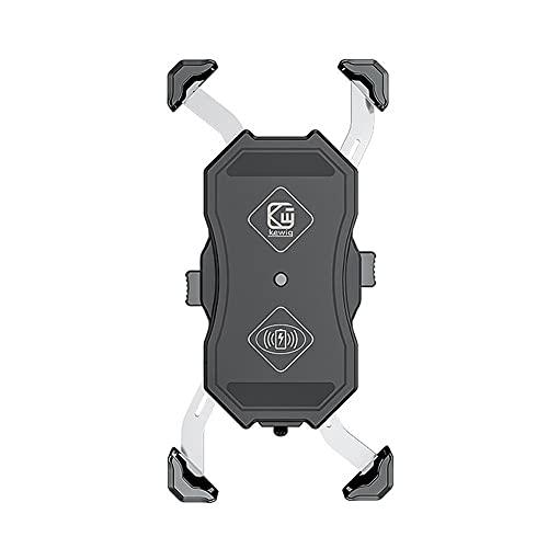 Cargador de coche inalámbrico cargador de la motocicleta del soporte del cargador de carga rápida USB 15W para la motocicleta S20 / S10, para el iPhone 12 Pro Max Mini Pro 11/11 XS / XR etc (Negro)