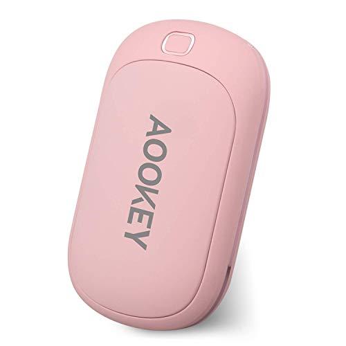Aookey Calentador de Manos USB Recargable 5200mAh Powerbank Batería Calentador de Manos Electrico,Calentadores de Manos Bolsillo USB,Calentador de Manos Eléctrico de Reutilizable
